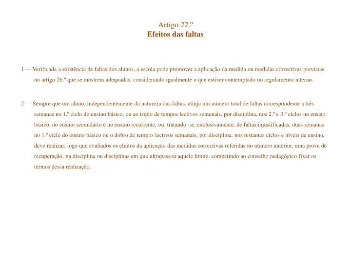 Artigo 22.º