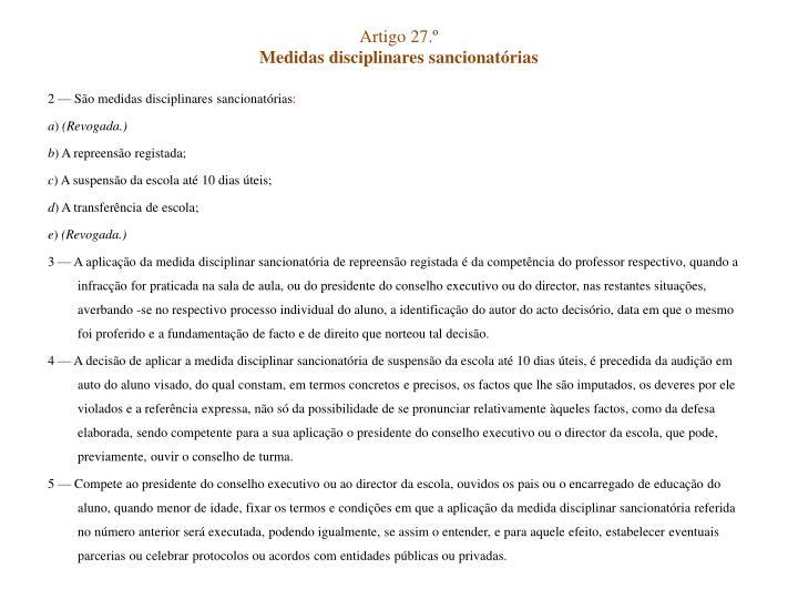 Artigo 27.º