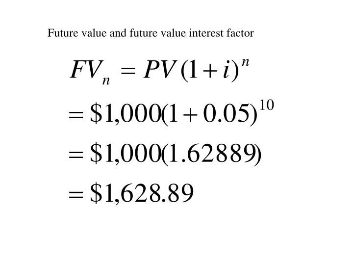 Future value and future value interest factor