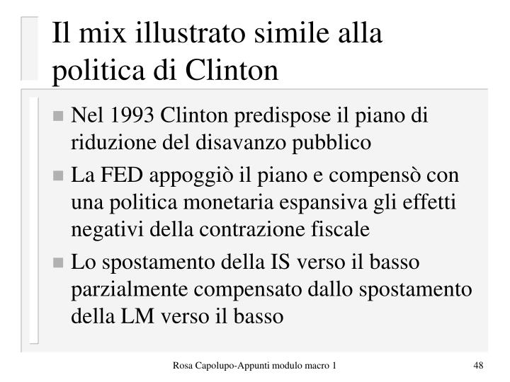 Il mix illustrato simile alla politica di Clinton