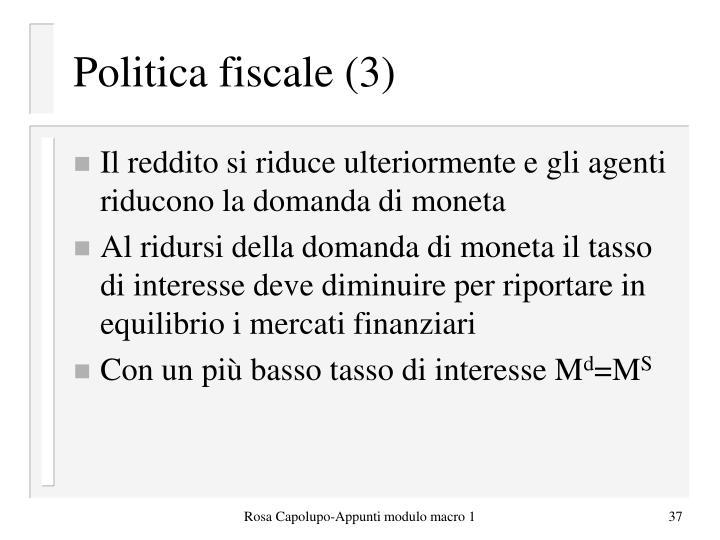 Politica fiscale (3)