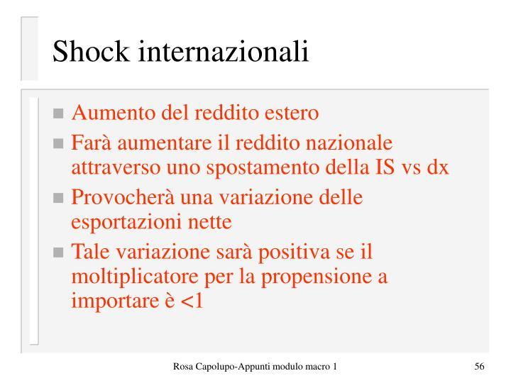 Shock internazionali