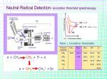 neutral radical detection ionization threshold spectroscopy