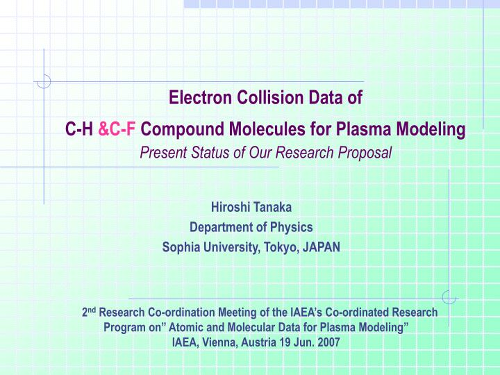 Electron Collision Data of