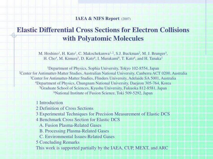 IAEA & NIFS Report