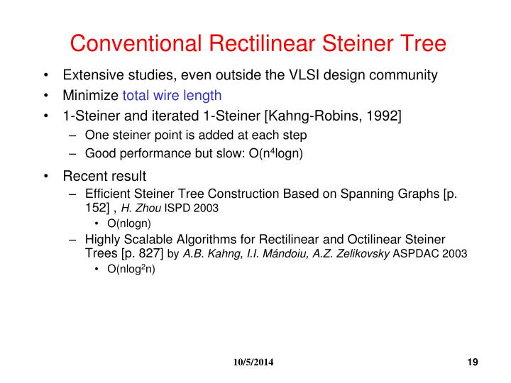 Conventional Rectilinear Steiner Tree