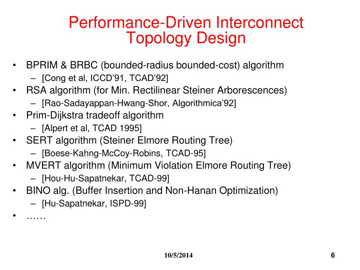 Performance-Driven Interconnect Topology Design