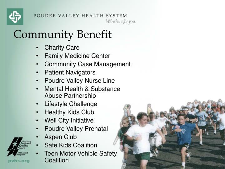 Community Benefit
