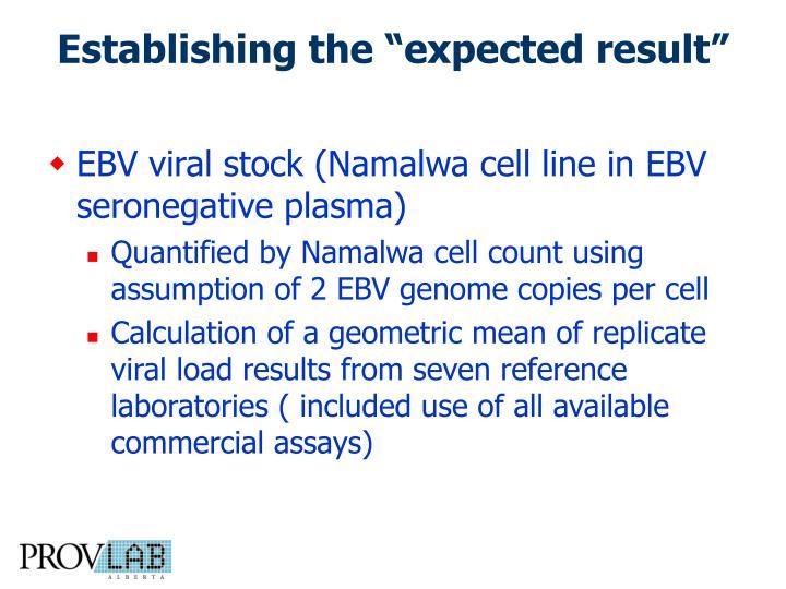 EBV viral stock (Namalwa cell line in EBV seronegative plasma)