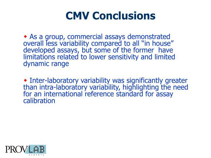 CMV Conclusions