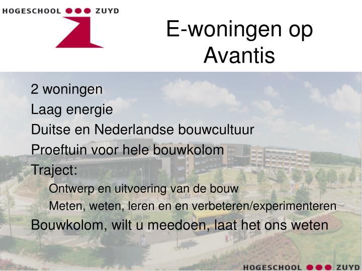 E-woningen op Avantis