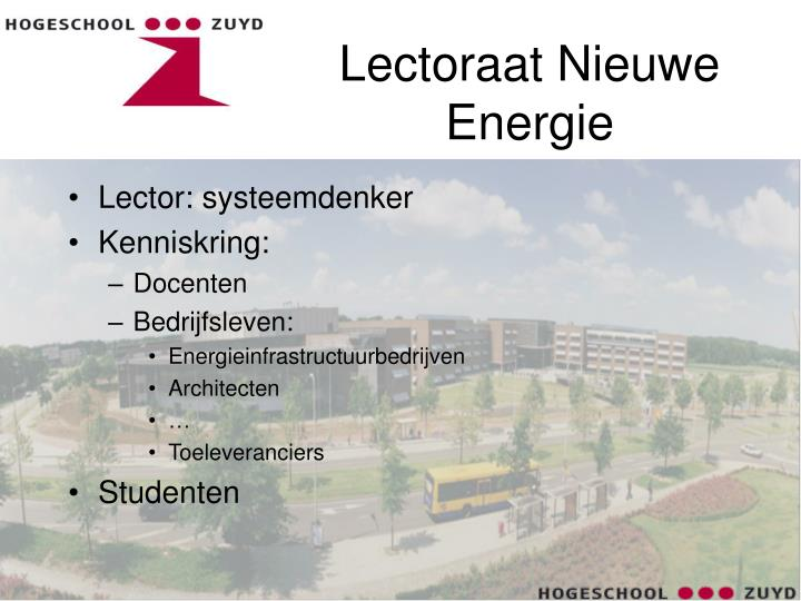 Lectoraat Nieuwe Energie