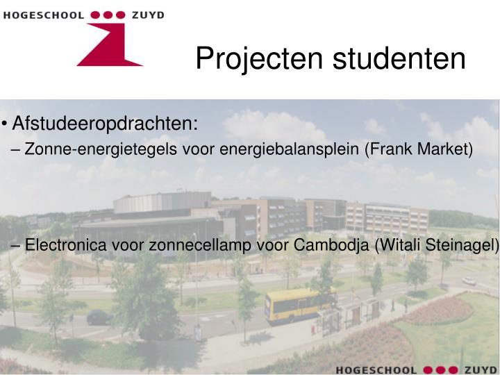 Projecten studenten