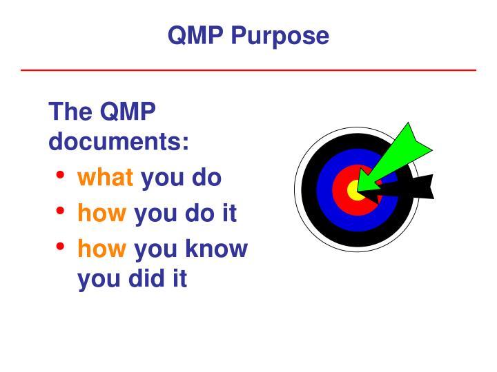 QMP Purpose