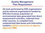 quality management plan requirement