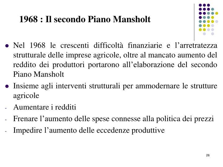 1968 : Il secondo Piano Mansholt