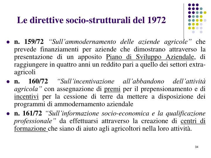 Le direttive socio-strutturali del 1972