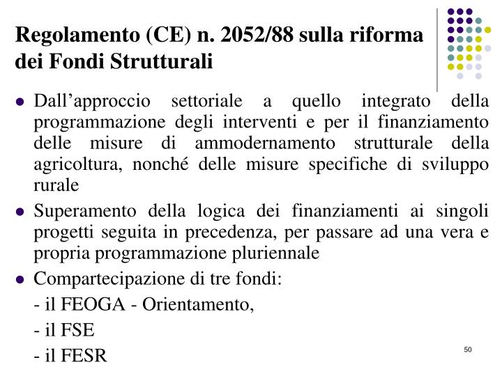 Regolamento (CE) n. 2052/88 sulla riforma