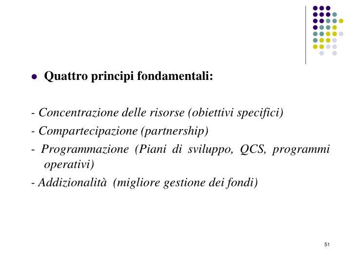 Quattro principi fondamentali: