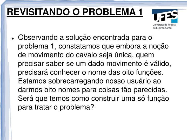 REVISITANDO O PROBLEMA 1