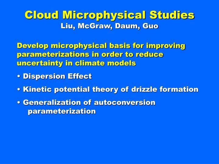 Cloud Microphysical Studies