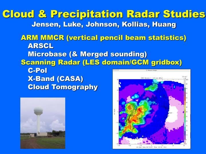 Cloud & Precipitation Radar Studies