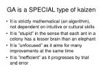 ga is a special type of kaizen