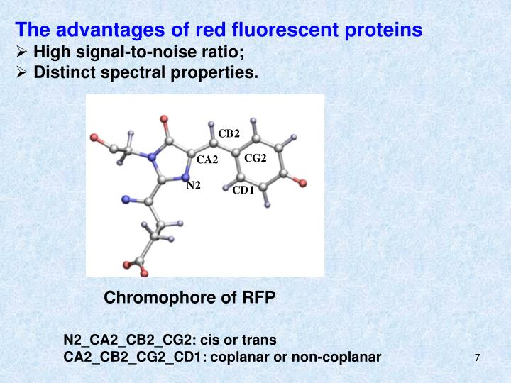 The advantages of red fluorescent proteins