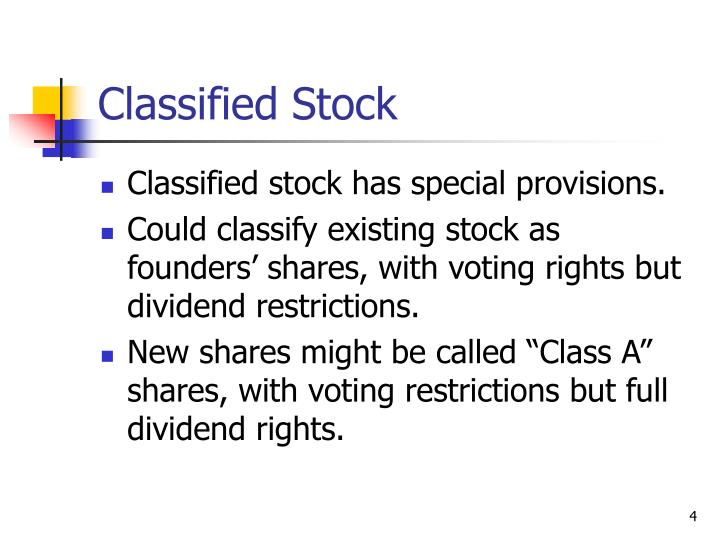 Classified Stock