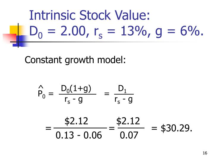 Constant growth model: