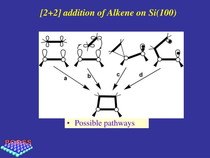 [2+2] addition of Alkene on Si(100)