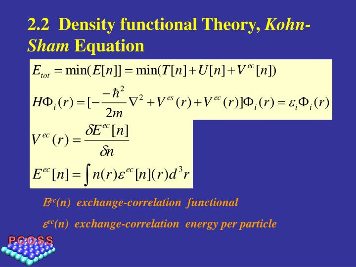 2.2  Density functional Theory,