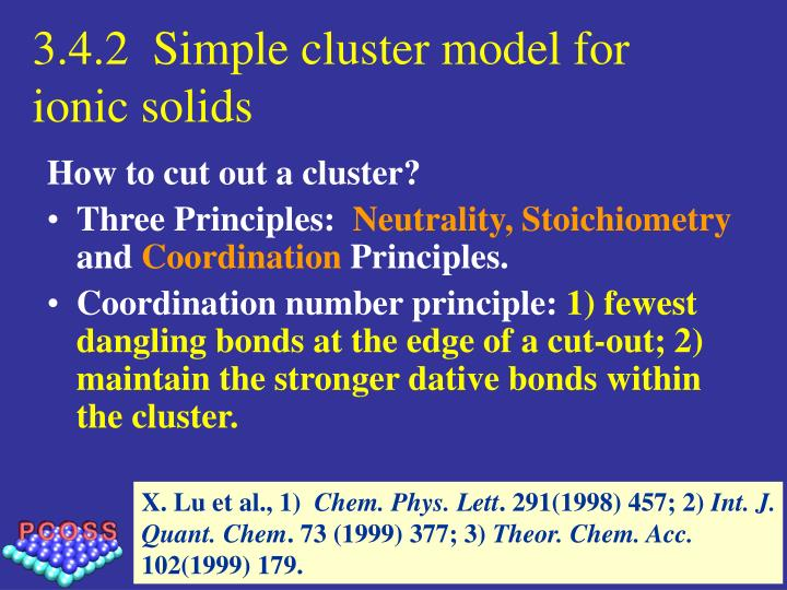 3.4.2  Simple cluster model for ionic solids