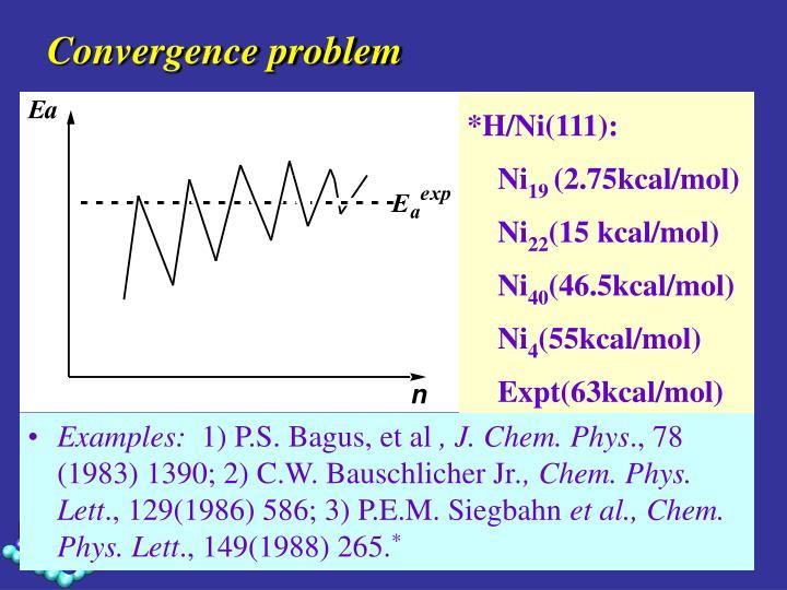 Convergence problem