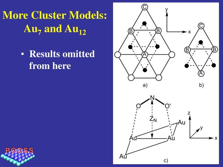 More Cluster Models:  Au