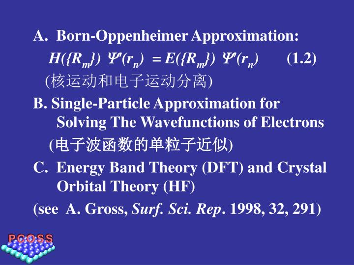 A.  Born-Oppenheimer Approximation: