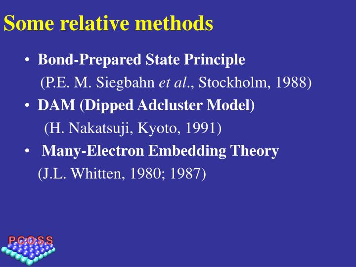 Some relative methods