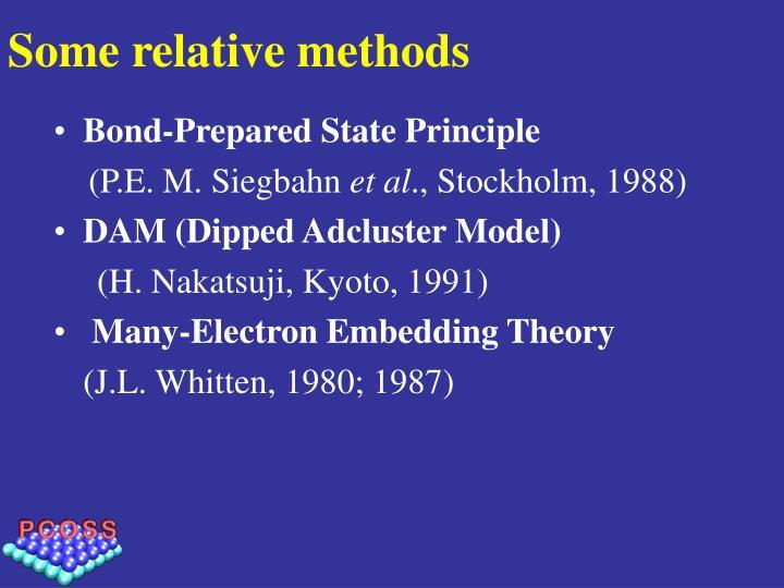 Some relative methods