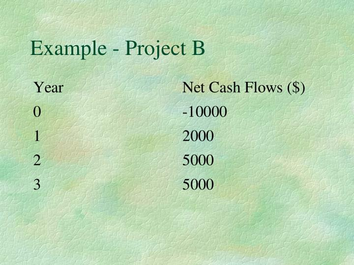 Example - Project B