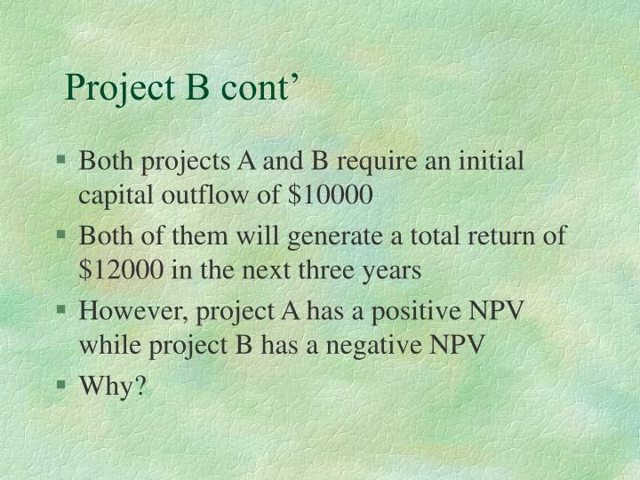 Project B cont'