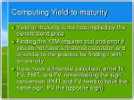 computing yield to maturity
