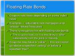 floating rate bonds