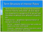 term structure of interest rates