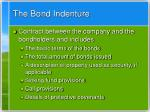 the bond indenture