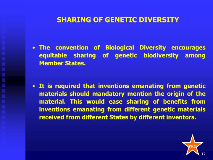 SHARING OF GENETIC DIVERSITY