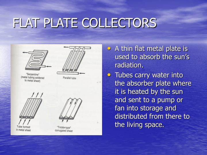 FLAT PLATE COLLECTORS