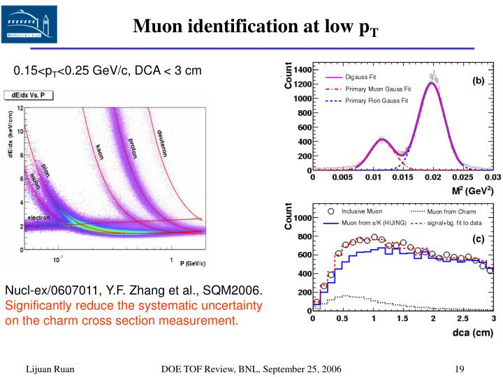 Muon identification at low p