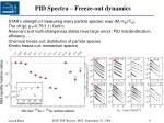 pid spectra freeze out dynamics