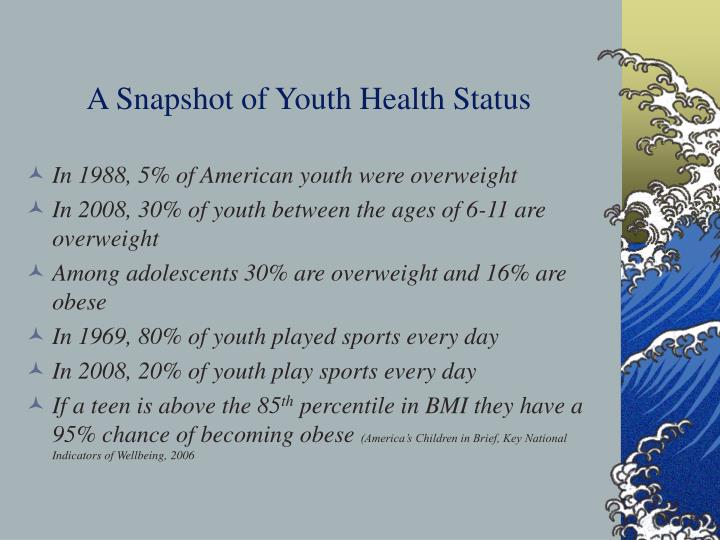 A snapshot of youth health status