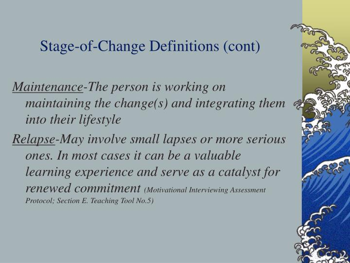 Stage-of-Change Definitions (cont)
